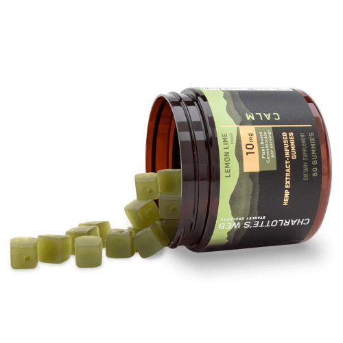 Buy-CBD-Oil-Online-Charlottes-Web-Gummies-Lemon-Lime-Calm-Open-Bottle